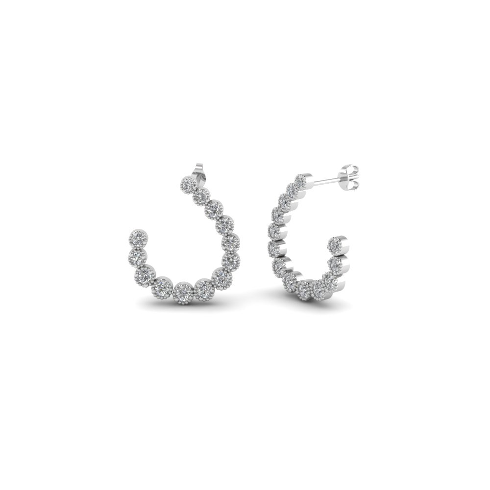 Cheap White Gold Womens Earrings