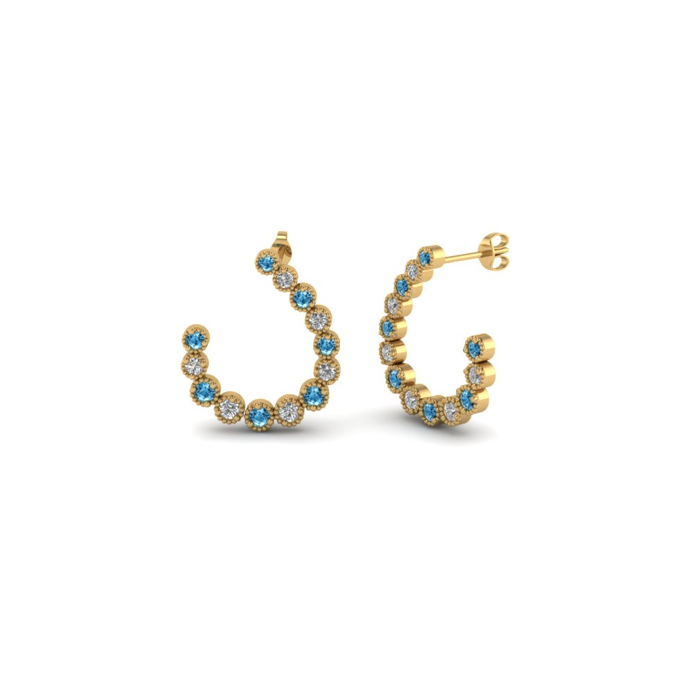J Design Hoop Earring