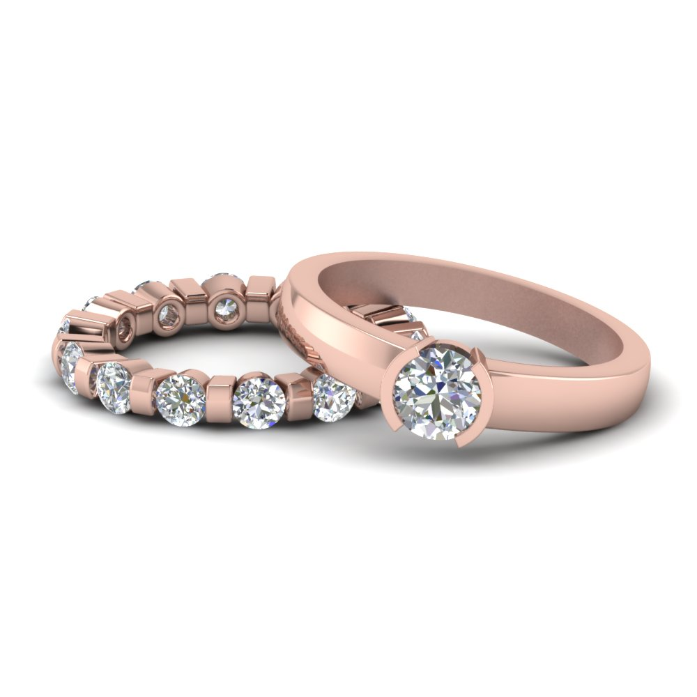 Diamond Eternity Bridal Set