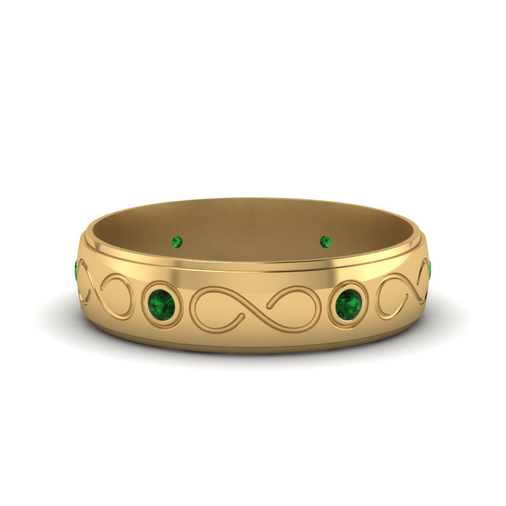 Emerald Wedding Mens Band