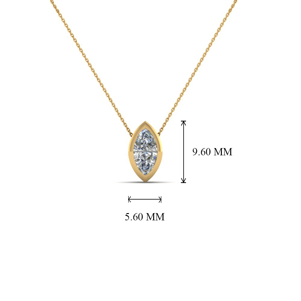 set diamond gold white pendant necklace product bezel