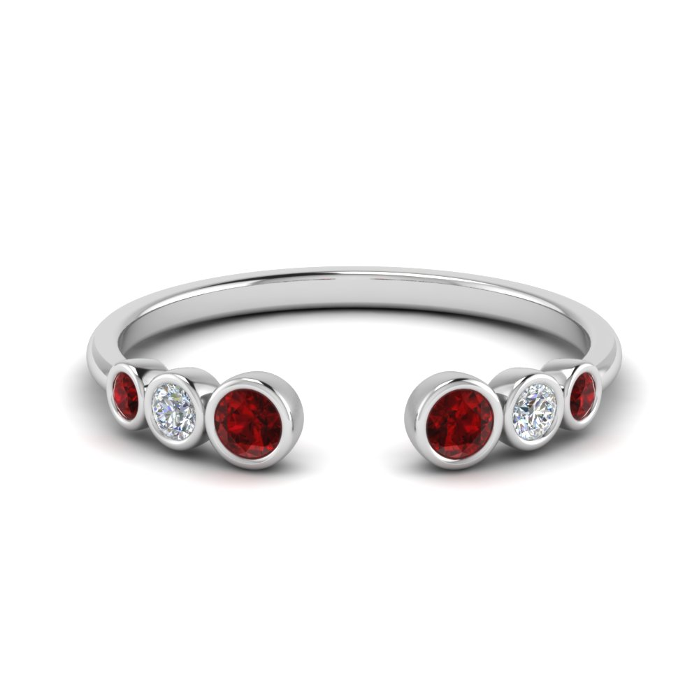 Bezel Set Open Ruby Ring