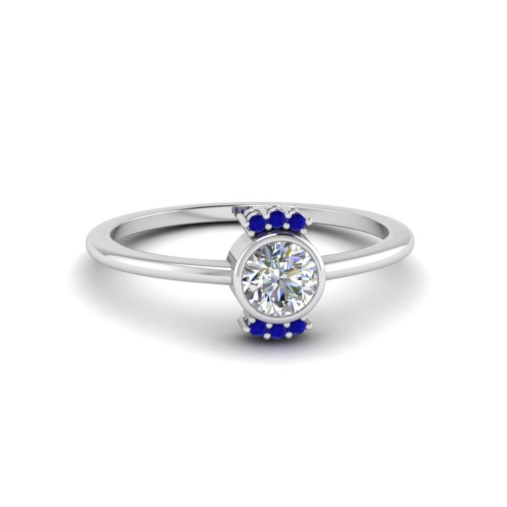 zirconia heart band promise on cubic with hand product blue sapphire ring