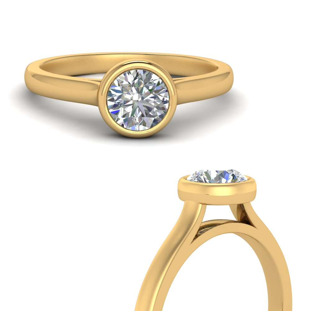 bezel-set-round-cut-solitaire-engagement-ring-in-FDENR9501RORANGLE3-NL-YG