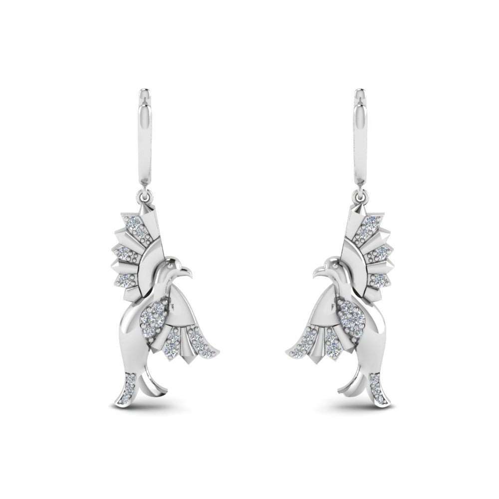 Bird Drop Diamond Earring