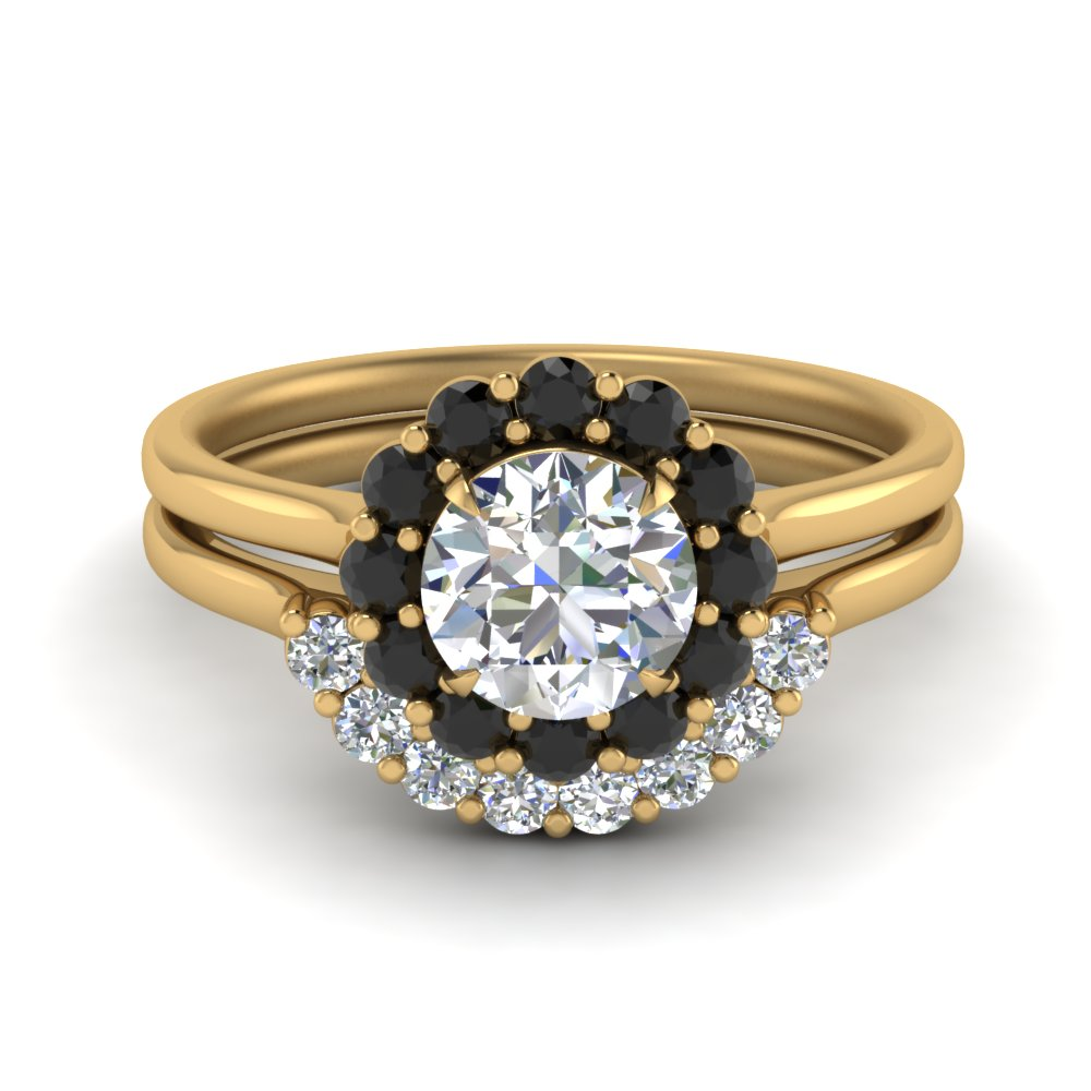 black-diamond-floral-ring-with-contour-band-in-FD9167ROB1GBLACK-NL-YG