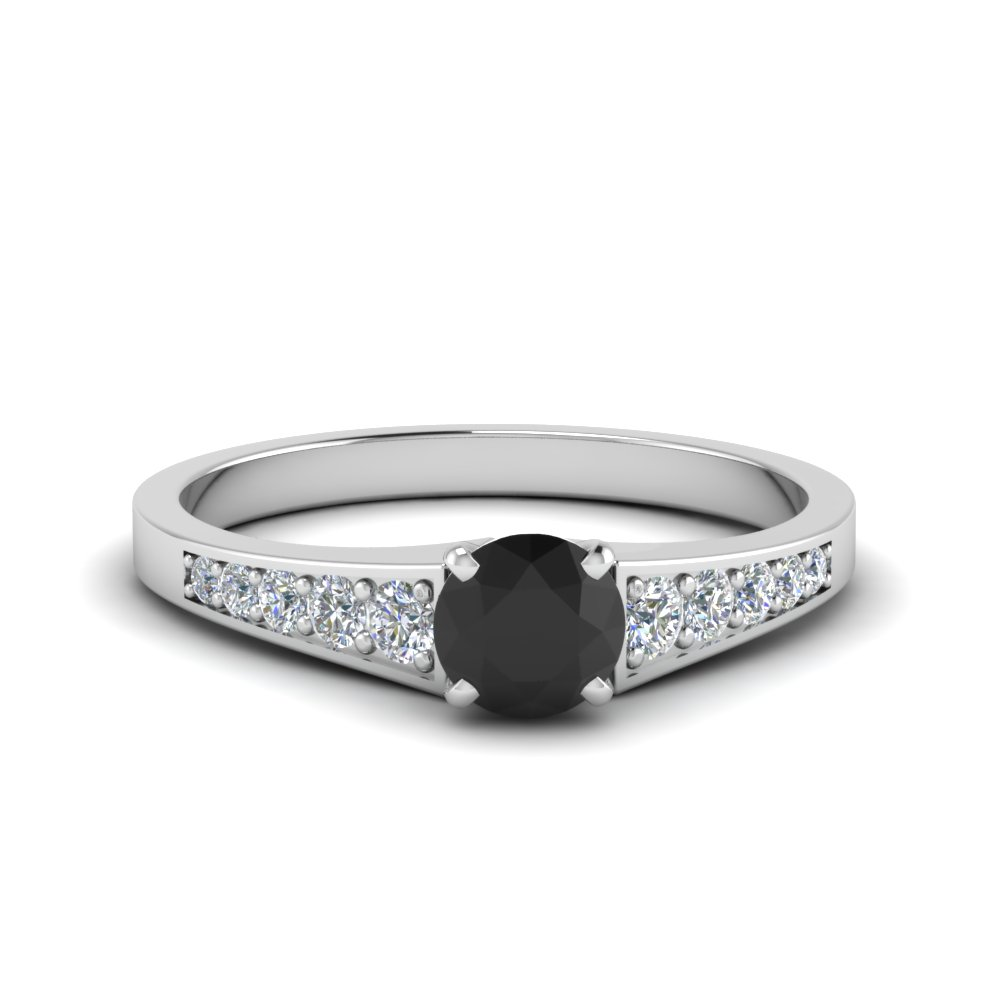 Black Diamond Graduated Engagement Ring