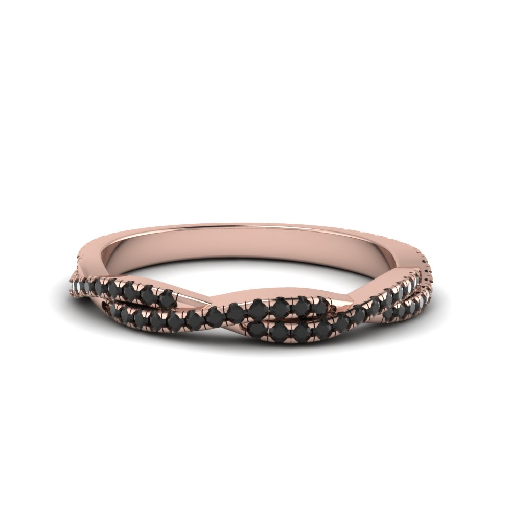 Black Diamond Twist Wedding Band
