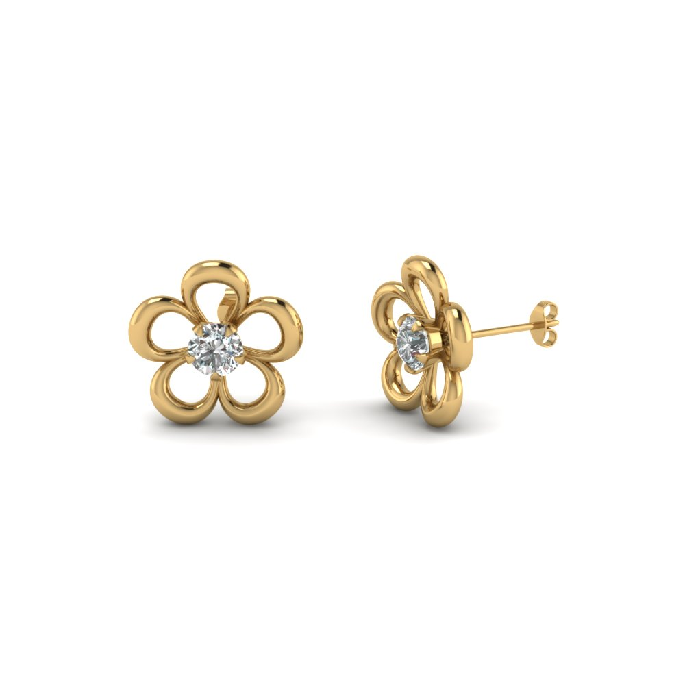 Beautiful Flower Design Stud Earrings For Her