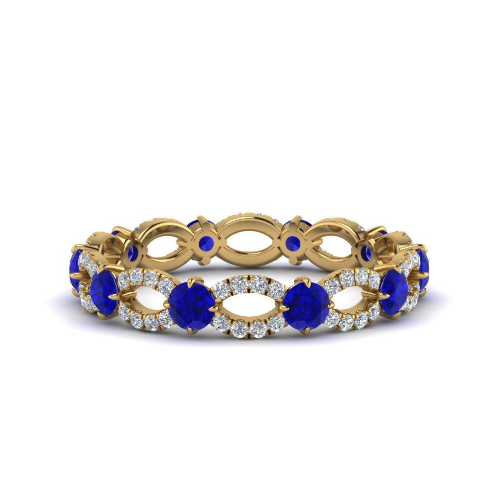 Gold Sapphire Eternity Band