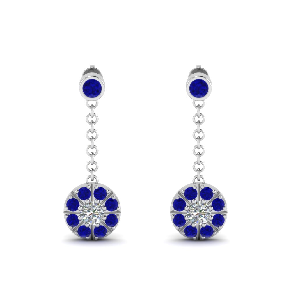 Sapphire Dangle Drop Earring