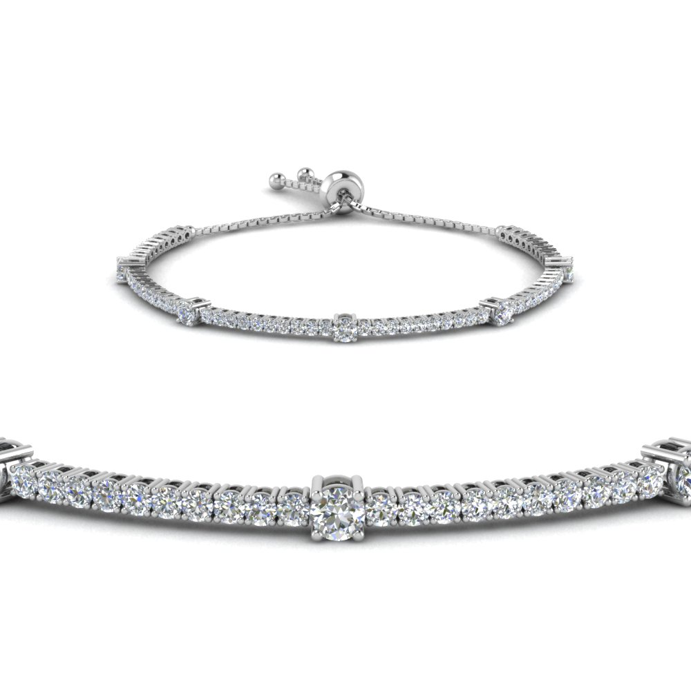 bolo classic design diamond bracelet in 14K white gold FDCT 227 1732SBANGLE2 NL WG