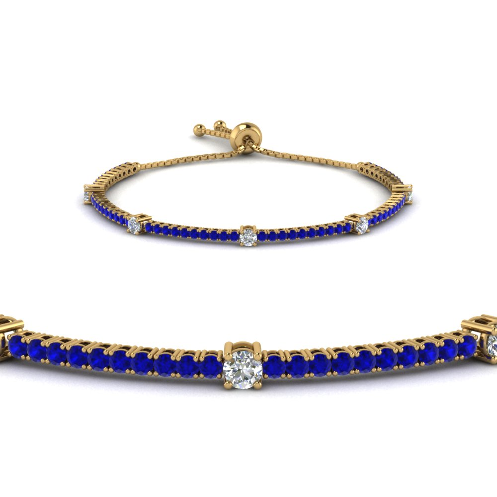 Explore Our Sapphire Tennis Bracelets| Fascinating Diamonds