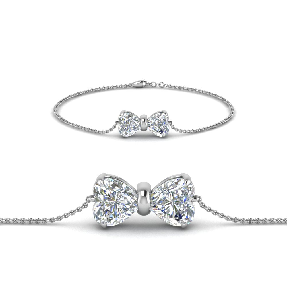 bow design diamond bracelet in FDBRC8336 NL WG