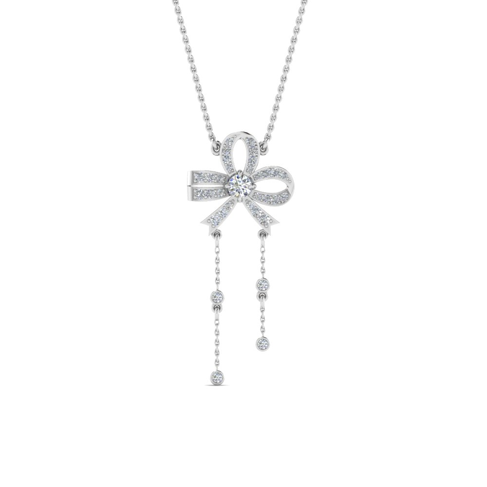 Bow Hanging Diamond Pendant