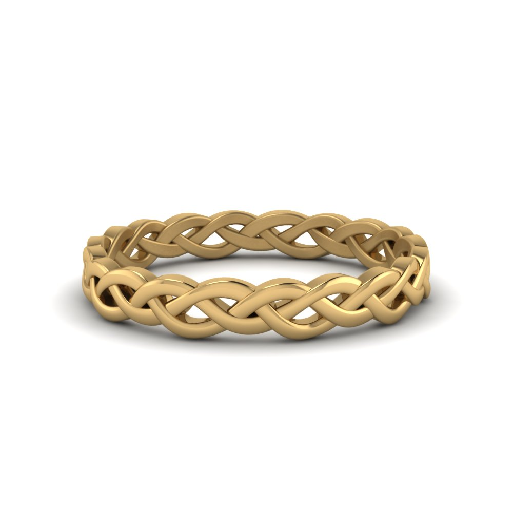 18K Yellow Gold Eternity Wedding Band