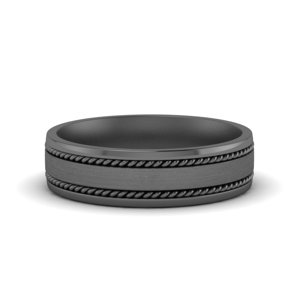 Black Gold Braided Men Band