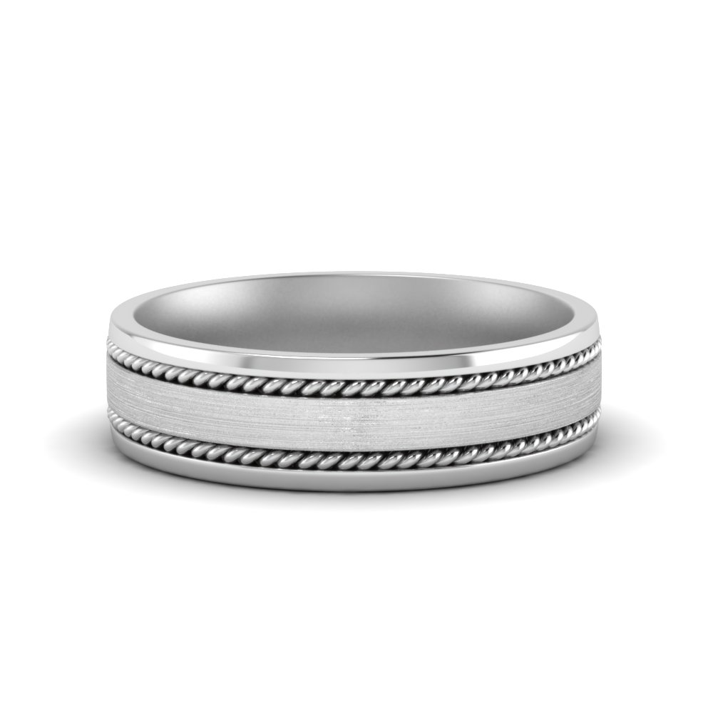 braided mens wedding ring in FDM8594B NL WG