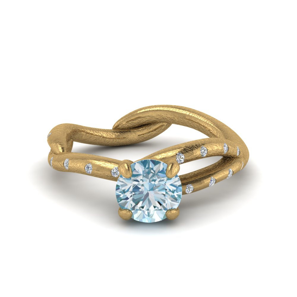 Branch Aquamarine Engagement Ring
