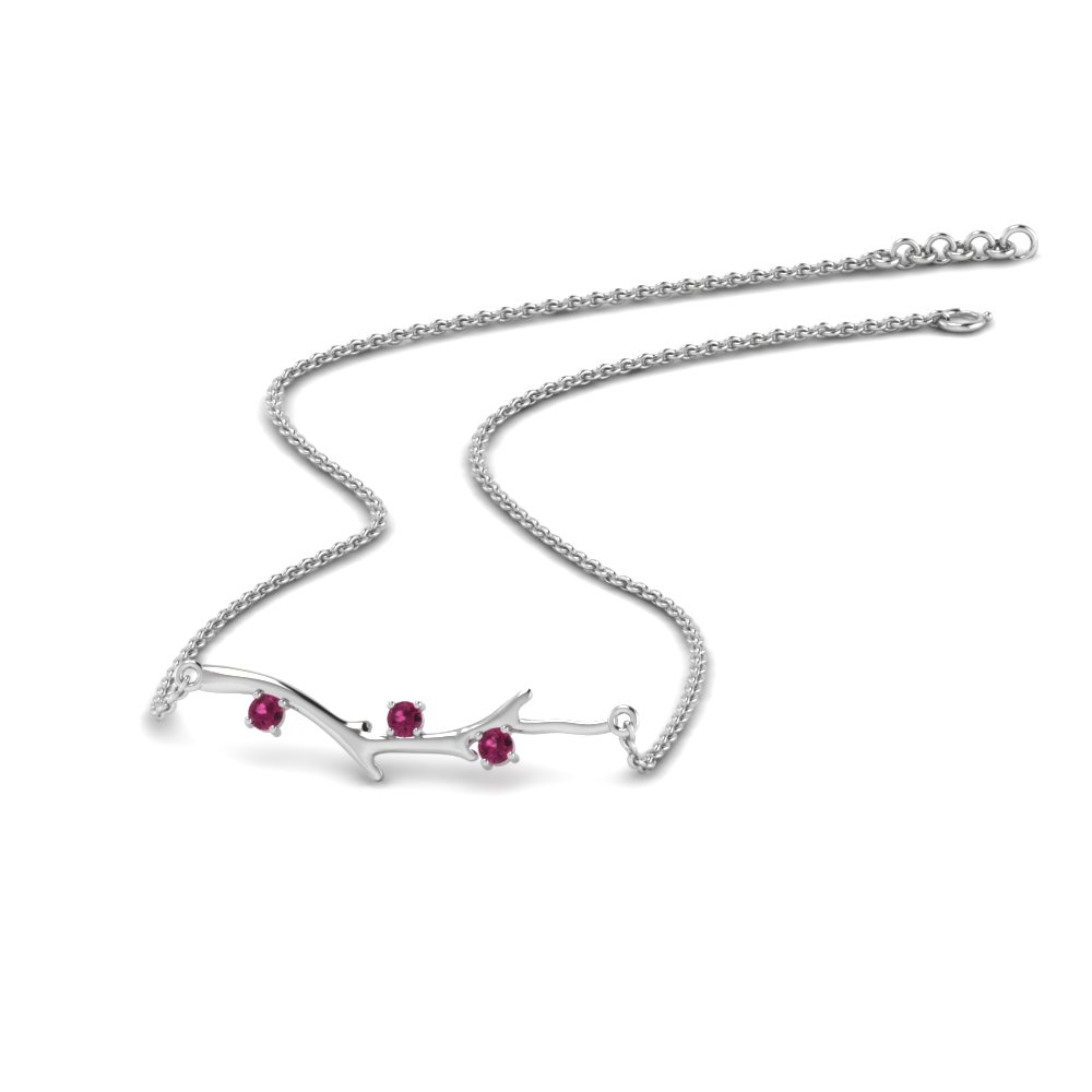 Delicate Pink Sapphire Necklace