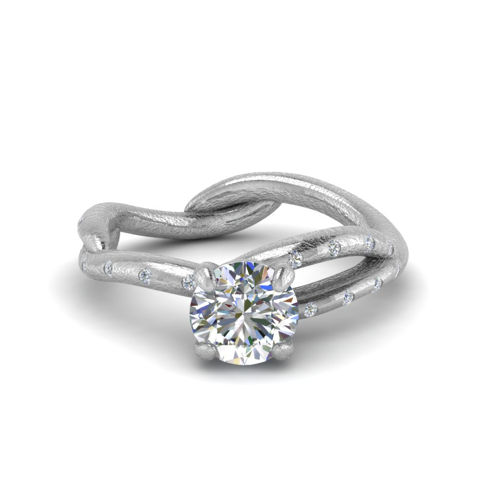 branch diamond engagement ring in FD8709ROR NL WG