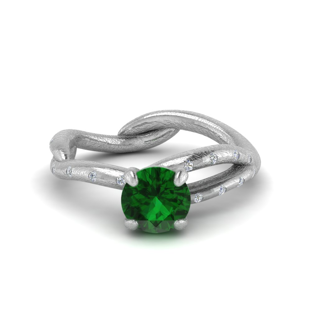branch emerald engagement ring in FD8709RORGEM NL WG