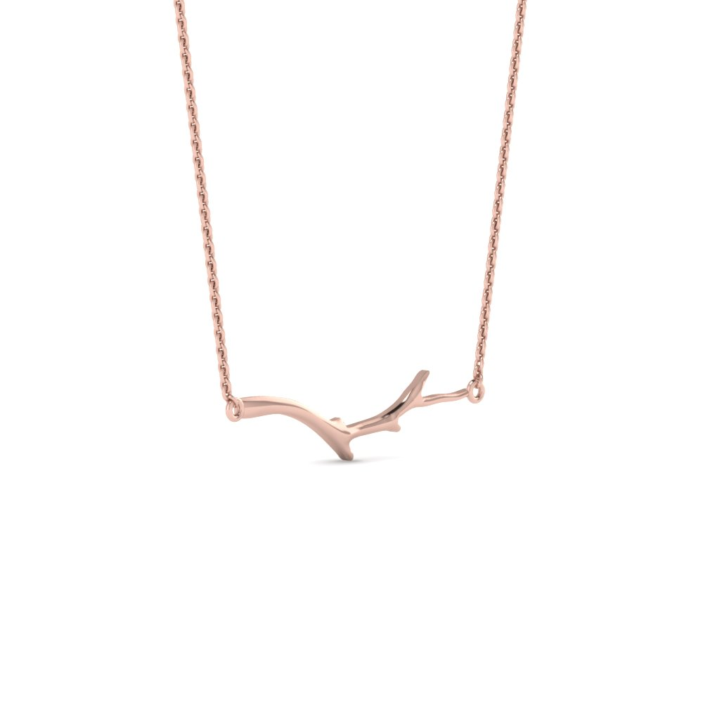 Rose Gold Branch Pendant