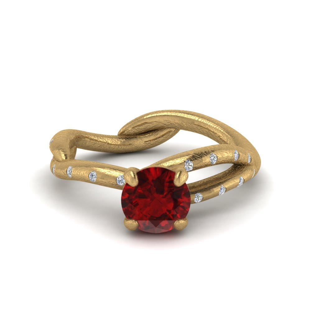 branch ruby engagement ring in FD8709RORGRD NL YG