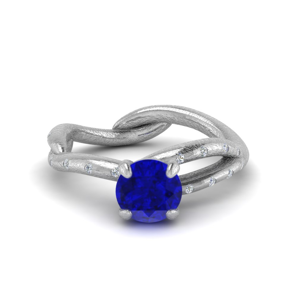 Branch Sapphire Engagement Ring