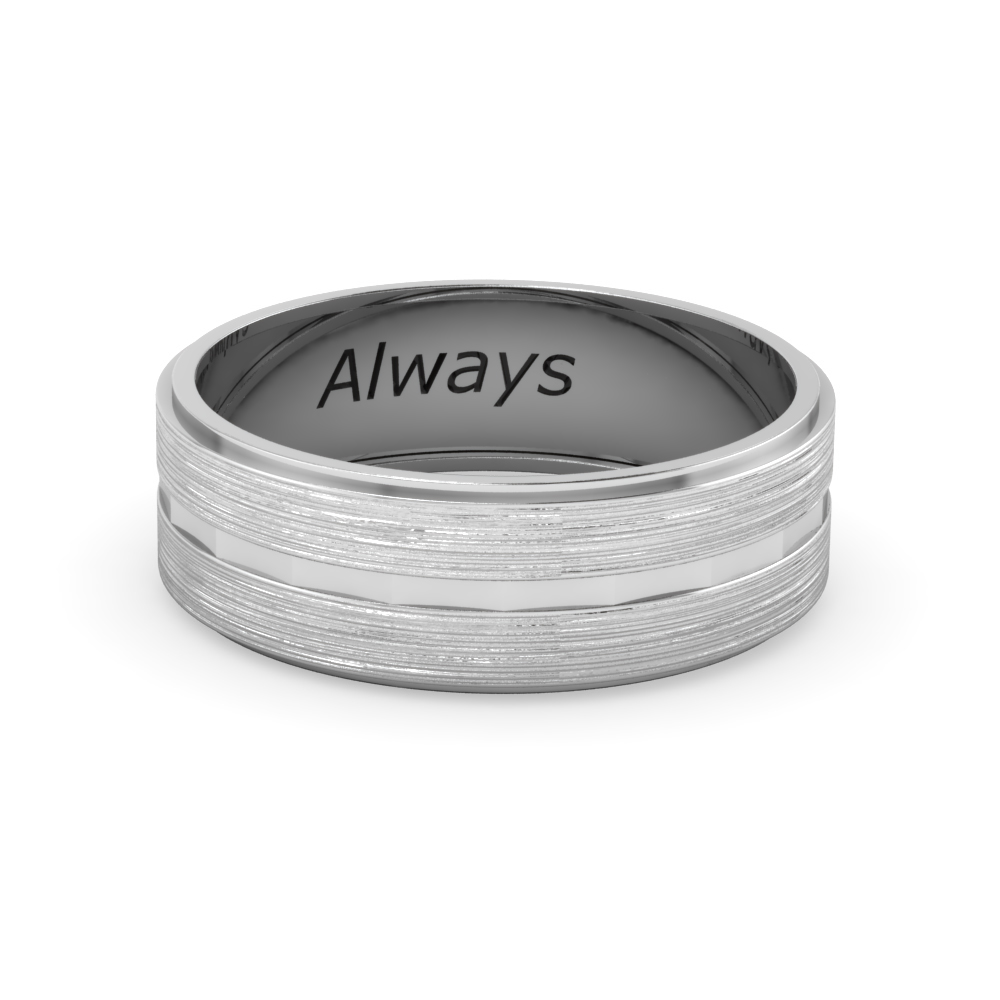 Brushed Inlay Engraved Band
