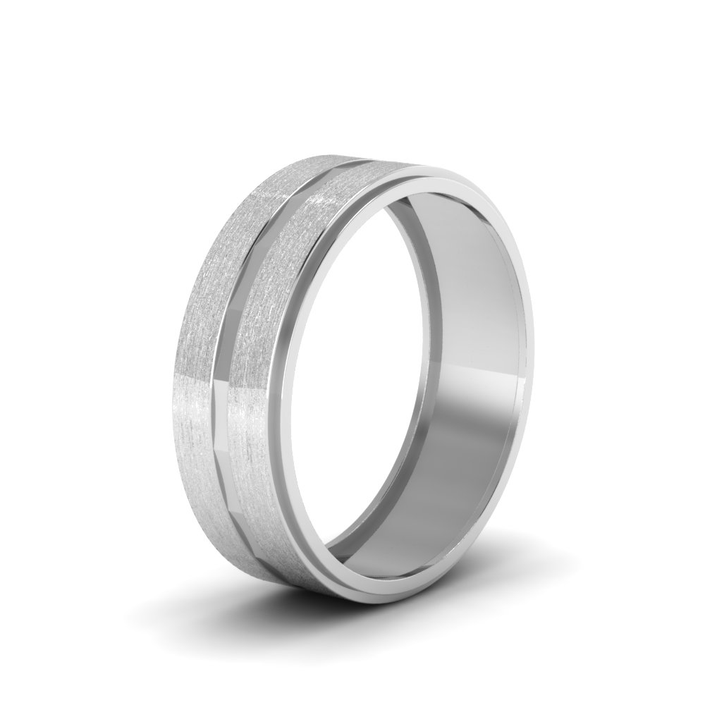 p amp ring brushed polished band and for shop wedding platinum in