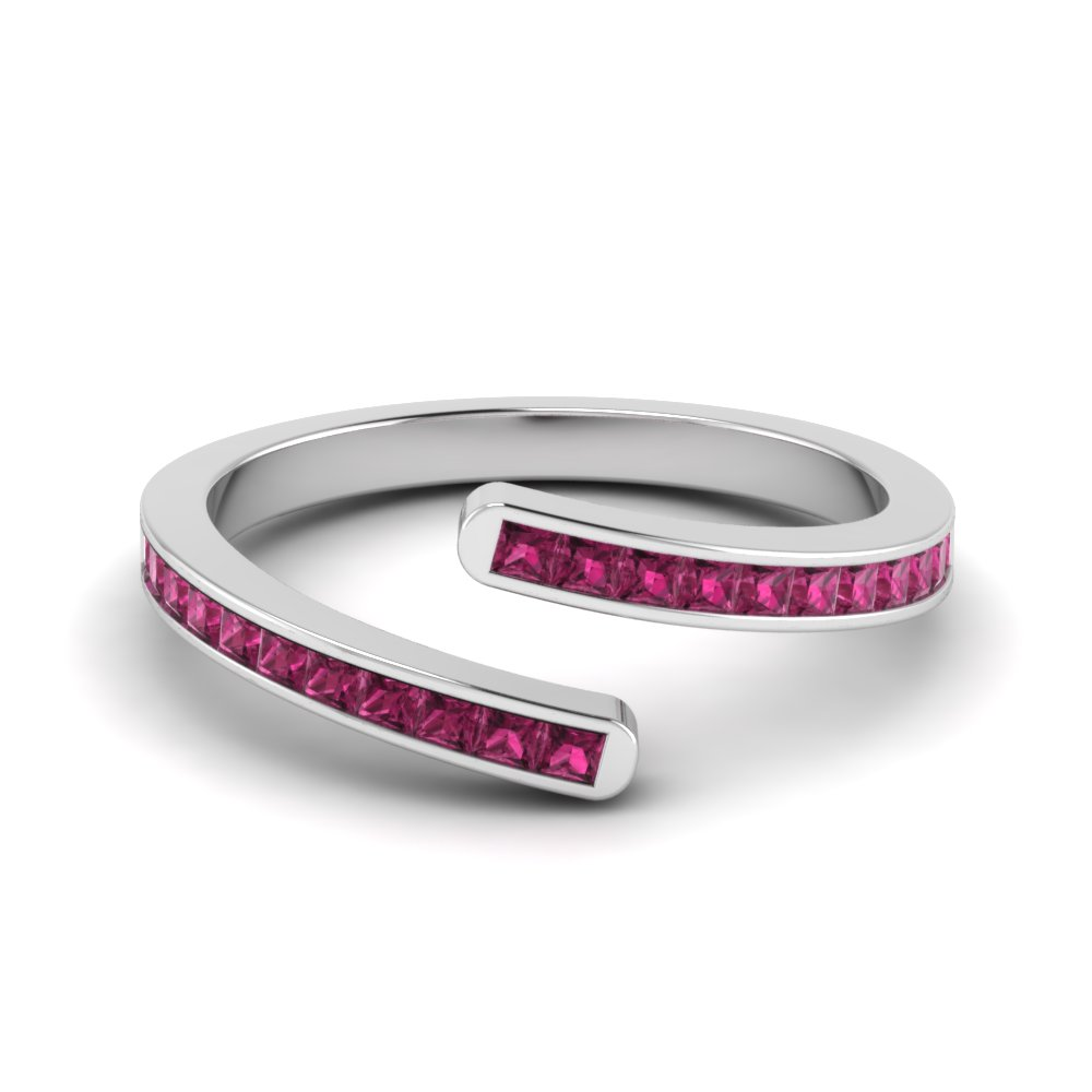 Bypass Pink Sapphire Anniversary Band