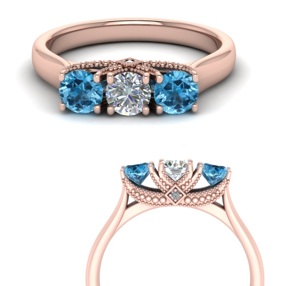 cathedral-3-stone-diamond-trellis-engagement-ring-with-blue-topaz-in-FD123222ROGICBLTOANGLE3-NL-RG