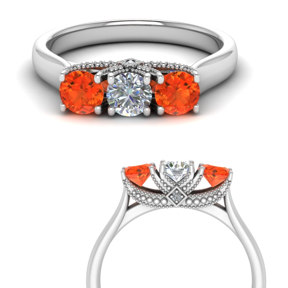 cathedral-3-stone-diamond-trellis-engagement-ring-with-orange-topaz-in-FD123222ROGPOTOANGLE3-NL-WG