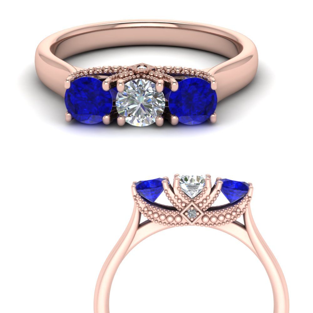 cathedral-3-stone-diamond-trellis-engagement-ring-with-sapphire-in-FD123222ROGSABLANGLE3-NL-RG