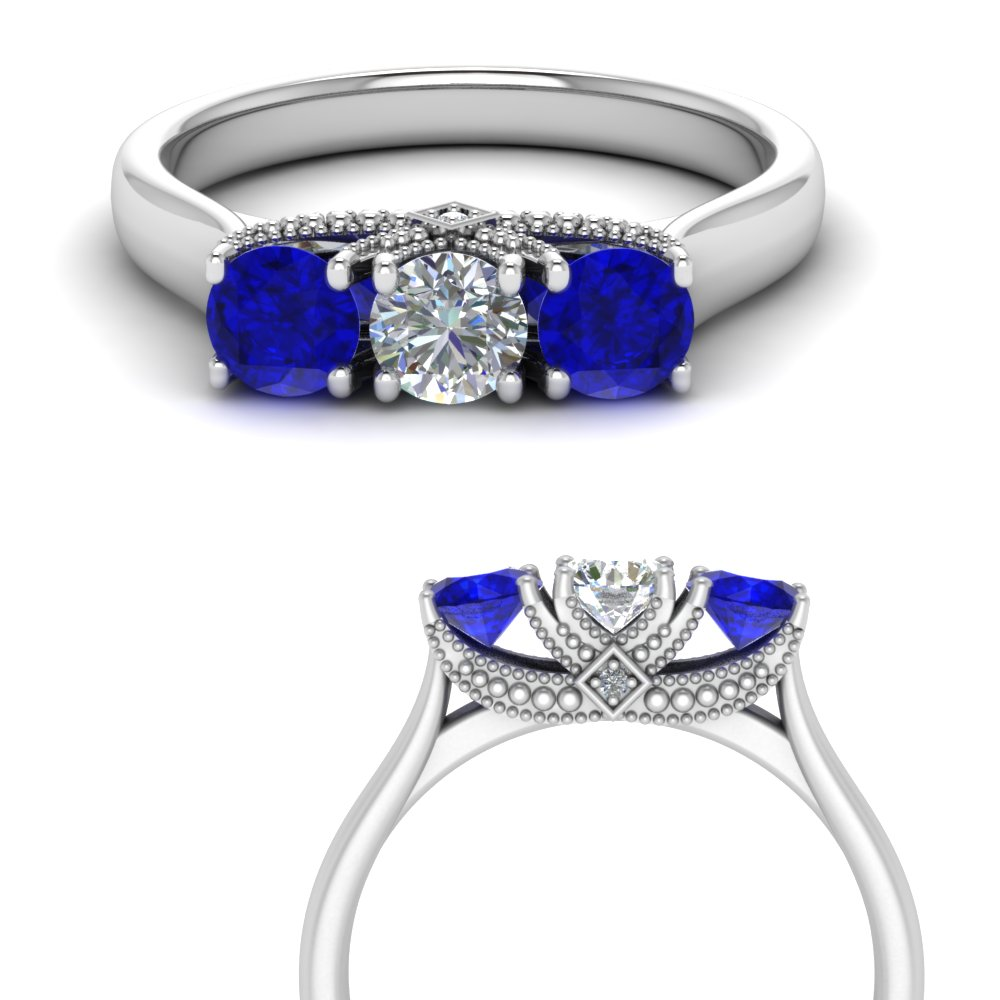 cathedral-3-stone-diamond-trellis-engagement-ring-with-sapphire-in-FD123222ROGSABLANGLE3-NL-WG