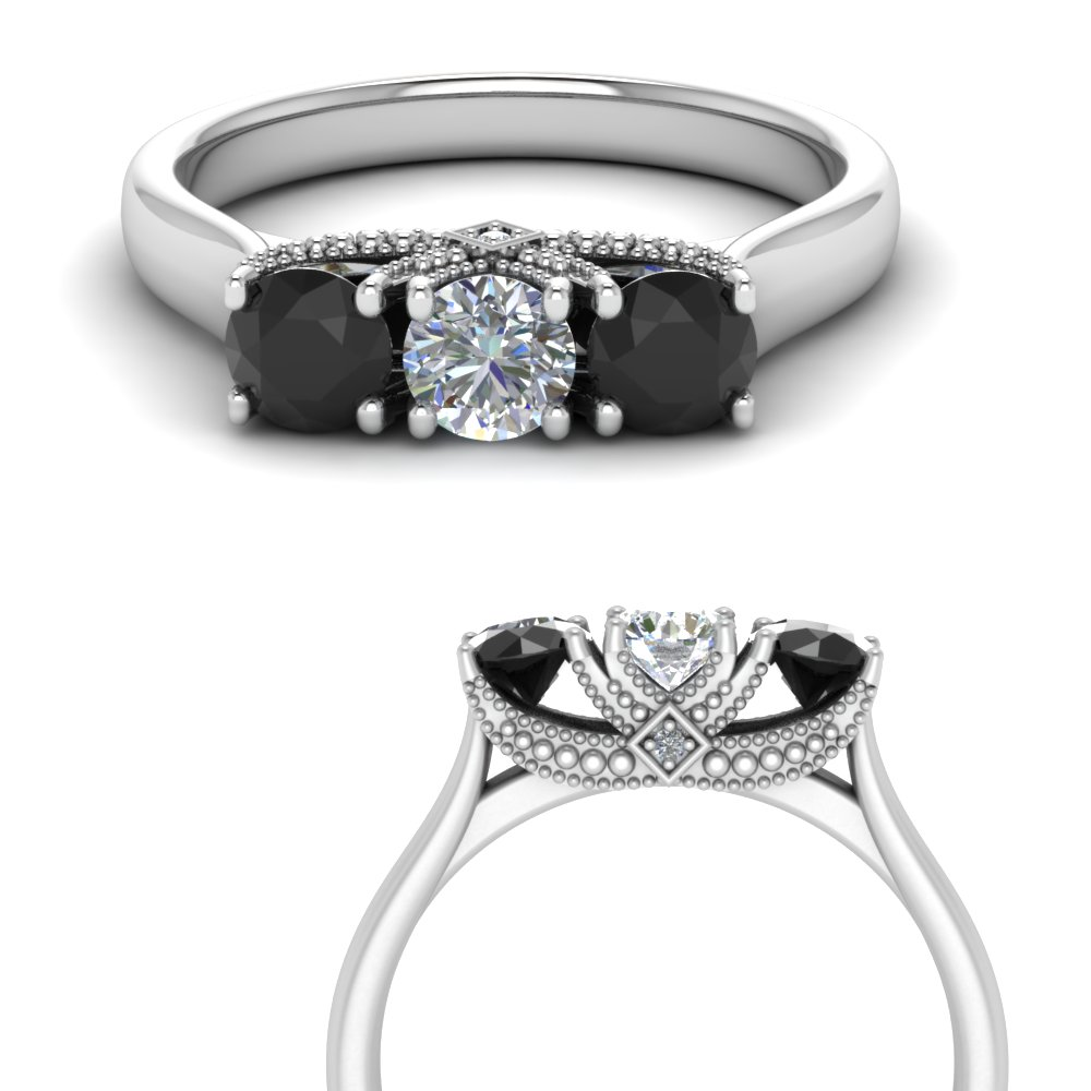 cathedral-3-stone-trellis-engagement-ring-with-black-diamond-in-FD123222ROGBLACKANGLE3-NL-WG