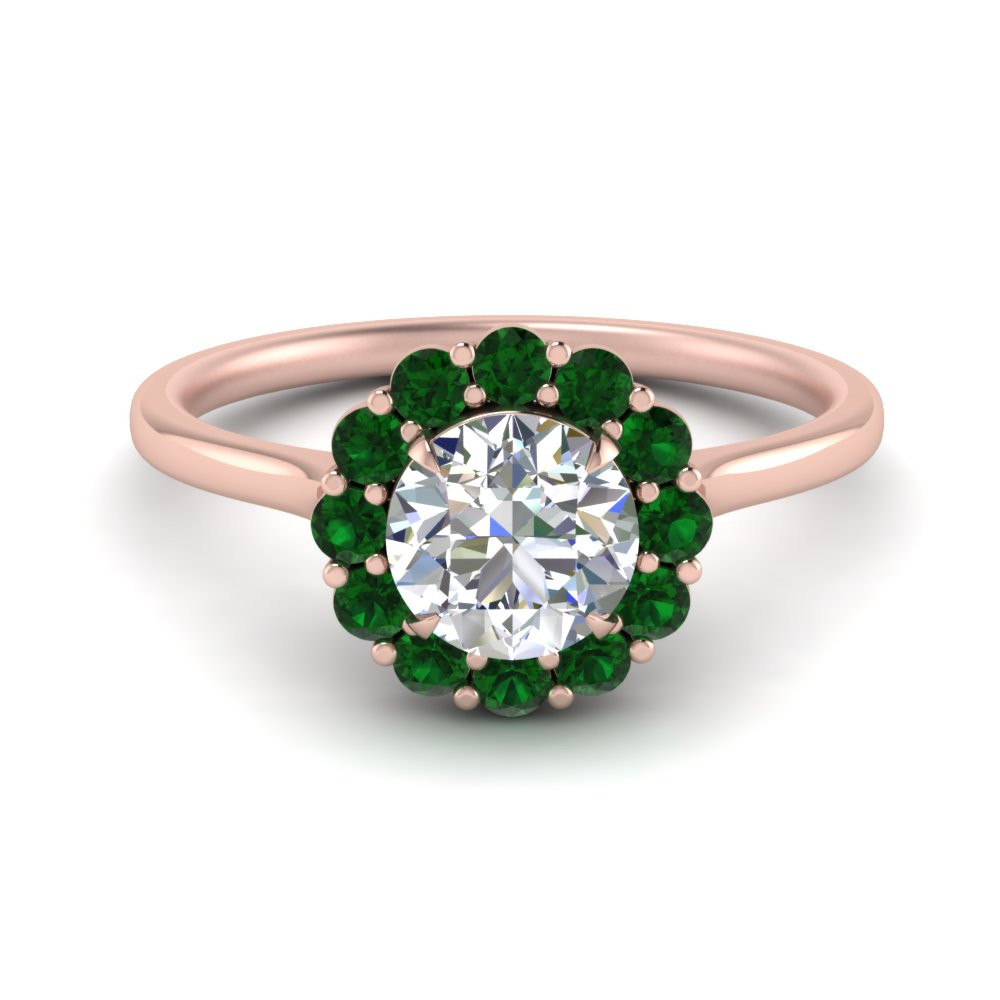 Cathedral Emerald Engagement Ring