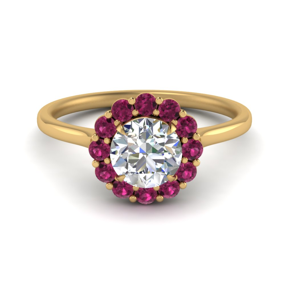 cathedral-flower-diamond-engagement-ring-setting-with-pink-sapphire-in-FD9167RORGSADRPI-NL-YG