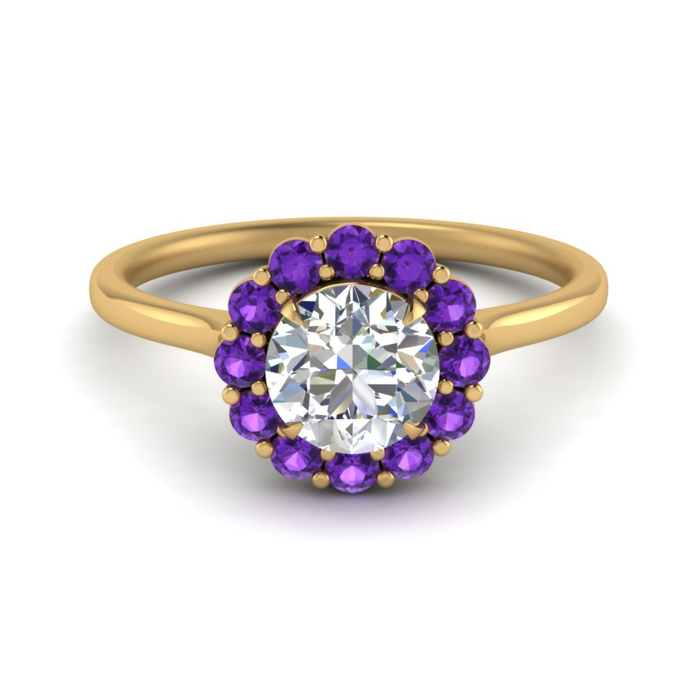 cathedral-flower-diamond-engagement-ring-setting-with-purple-topaz-in-FD9167RORGVITO-NL-YG