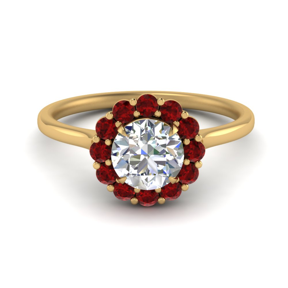 cathedral-flower-diamond-engagement-ring-setting-with-ruby-in-FD9167RORGRUDR-NL-YG