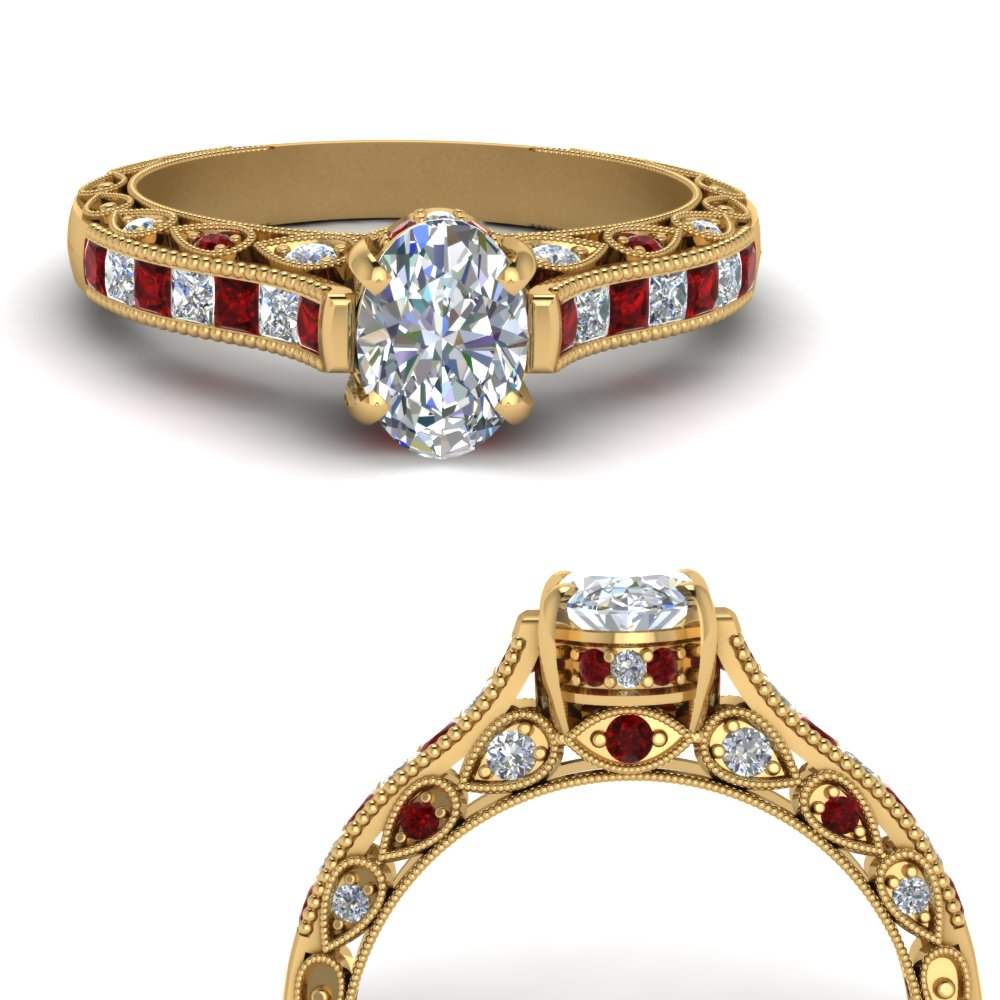 cathedral-milgrain-diamond-engagement-ring-with-ruby-in-FDENR6828OVRGRUDRANGLE3-NL-YG
