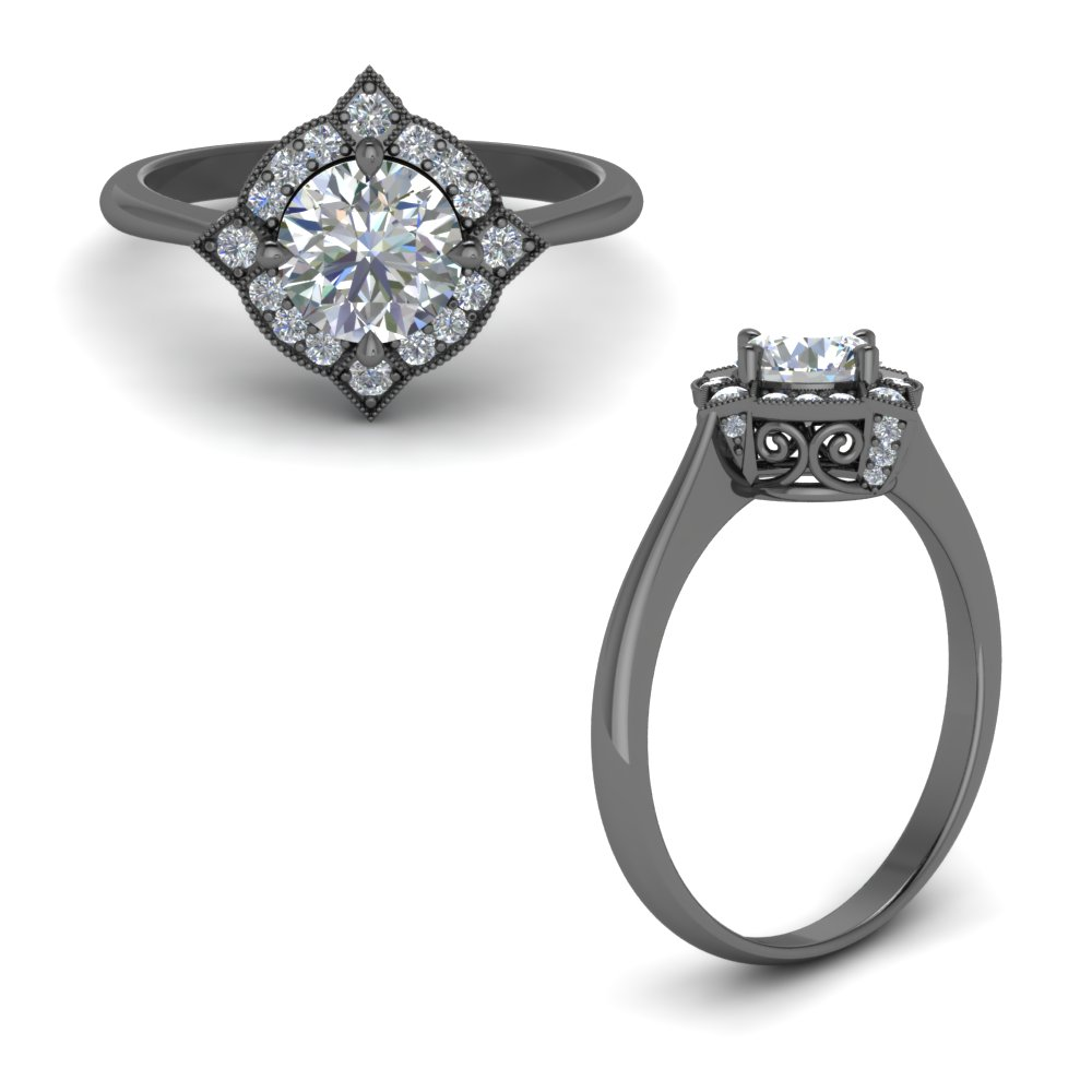 cushion rings double in cut rockher prong engagement cathedral row with two ring a white gold setting diamond