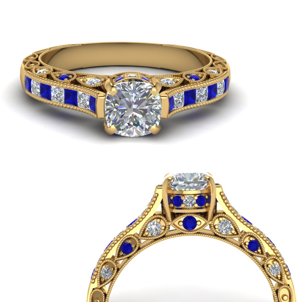 cathedral-vintage-style-cushion-diamond-engagement-ring-with-sapphire-in-FDENR6819CURGSABLANGLE3-NL-YG