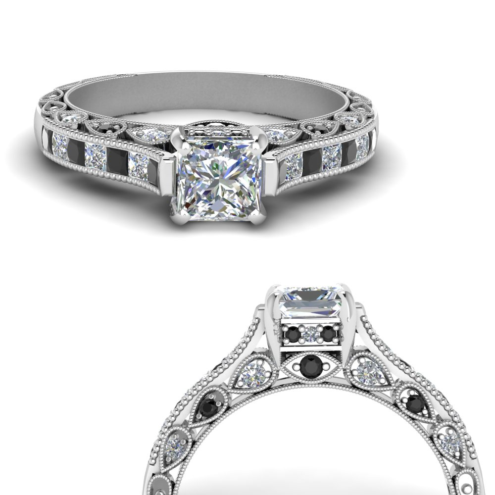 cathedral-vintage-style-princess-cut-engagement-ring-with-black-diamond-in-FDENR6819PRRGBLACKANGLE3-NL-WG