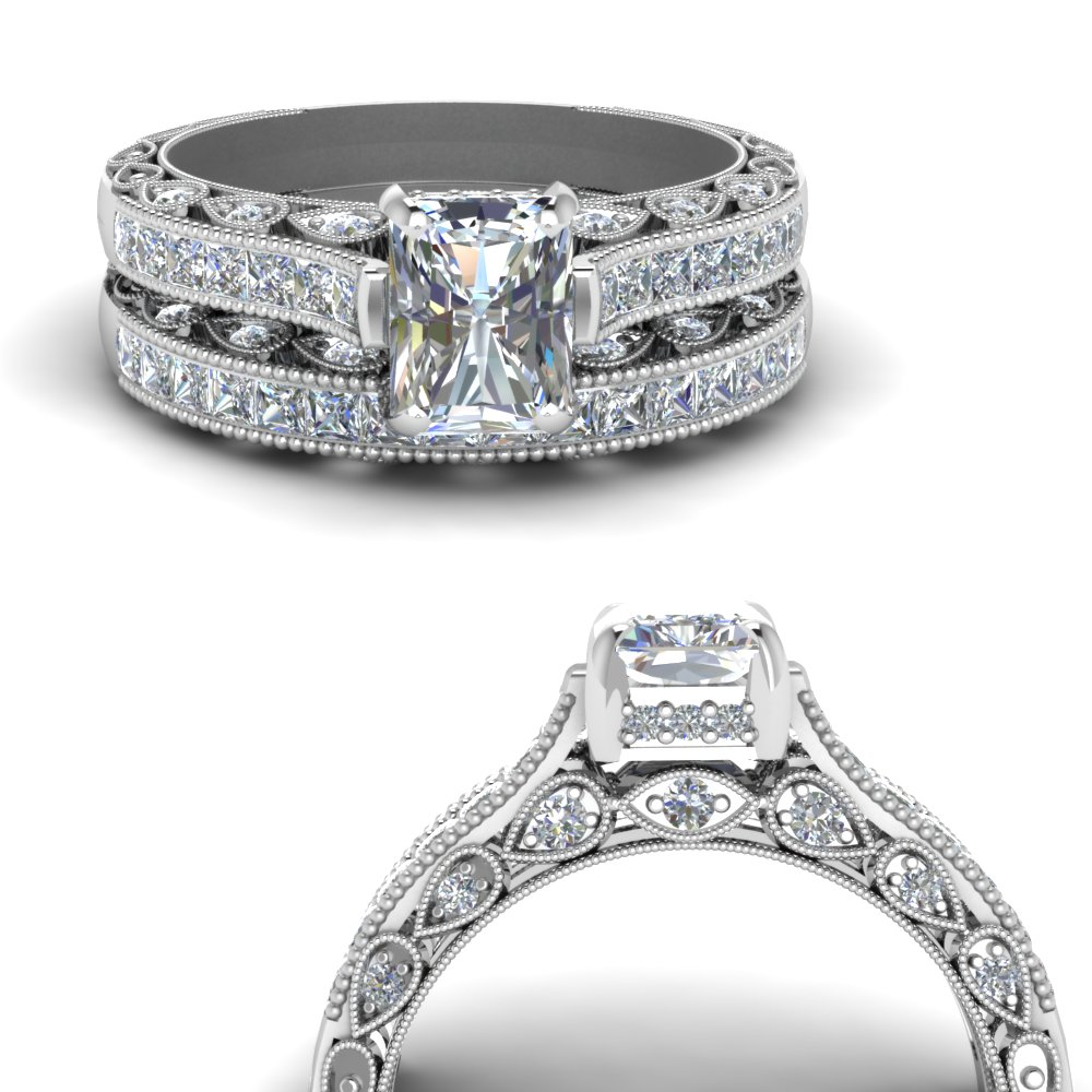 cathedral-vintage-style-radiant-diamond-wedding-set-in-FDENR6819RAANGLE3-NL-WG