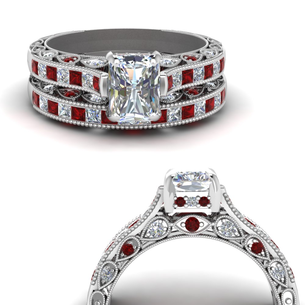 cathedral-vintage-style-radiant-diamond-wedding-set-with-ruby-in-FDENR6819RAGRUDRANGLE3-NL-WG