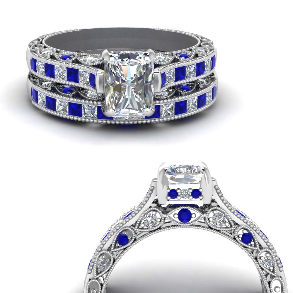 cathedral-vintage-style-radiant-diamond-wedding-set-with-sapphire-in-FDENR6819RAGSABLANGLE3-NL-WG