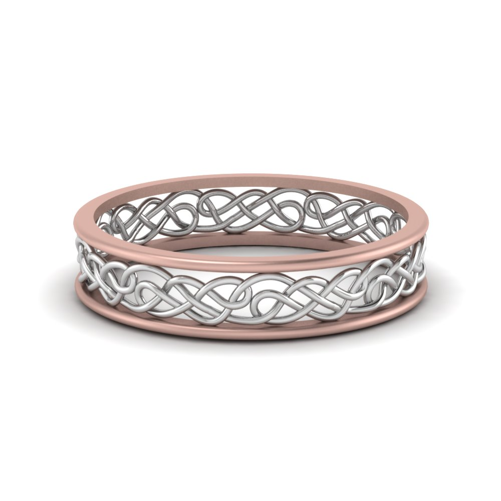 Celtic 2 Tone Wedding Band