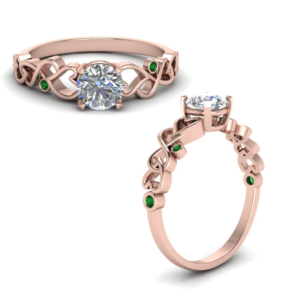 Intertwined Filigree Engagement Ring